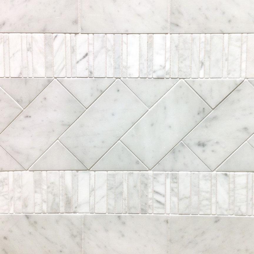 Bianco Gioia Marble Installation