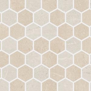 """Beige Blend 2"""" Hex Mosaic"""