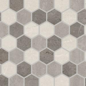 "Grey Blend 2"" Hex Mosaic"