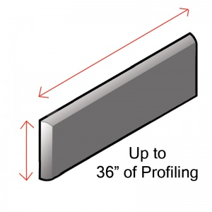 """Up to 36"""" of Matte Profiling"""