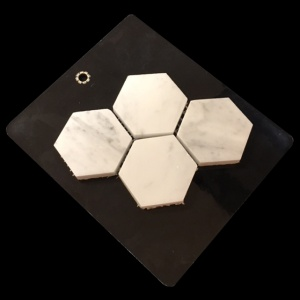 2 x 2 Hexagon Polished - Mosaic Cards