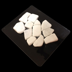 White Marble Tumbled  - Mosaic Cards