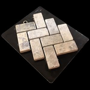 1 x 2 Tumbled Herringbone - Mosaic Cards