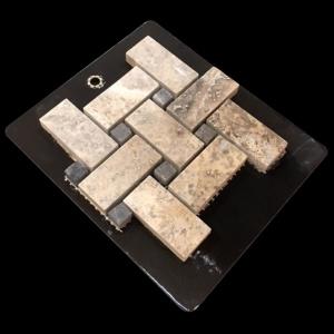 1 x 2 Matte Basket Weave - Mosaic Cards
