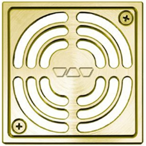 "4"" Brushed Brass Square (AMGB)"" Drain"