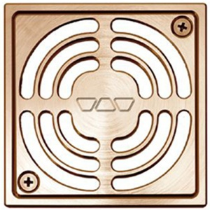 "4"" Brushed Copper/Bronze Square (AKGB)"" Drain"