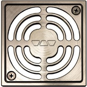 "4"" Brushed Nickel Square (ATGB)"" Drain"