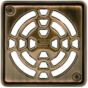 "4"" Oil Rubbed Bronze Square (EOB)"" Drain"
