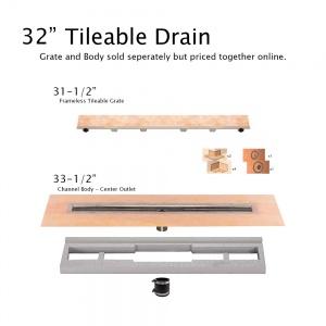 """32"""" Tileable Drain"""