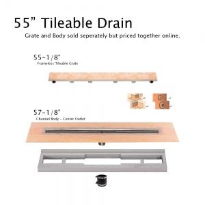 """55"""" Tileable Drain"""
