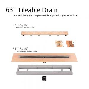 """63"""" Tileable Drain"""