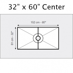 "32"" x 60"" Center Drain Shower Kit"