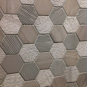 "2"" Textured Hexagon Mosaic"