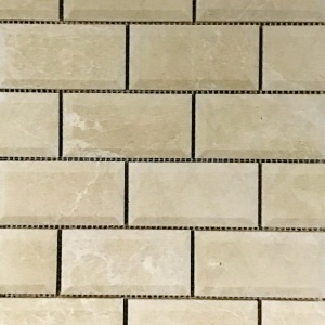 "2"" x 4"" Beveled Brick Mosaic"