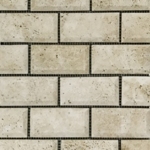 "2"" x 4"" Beveled Brick Mosaic"