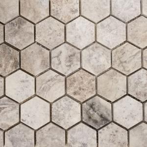 """2"""" Honed Hexagon Mosaic"""