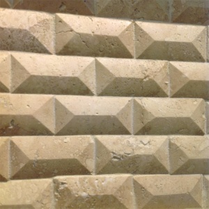 "1"" x 2"" Beveled Brick Mosaic"
