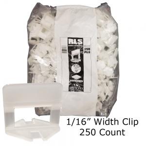 """Level Clip 1/16"""" width - 250 pcs"""