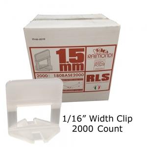 """Level Clip 1/16"""" width - 2000 pcs"""
